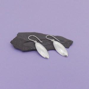Spring Leaf Silver Earrings