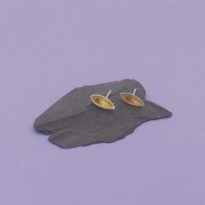 Silver Pod Stud Earrings