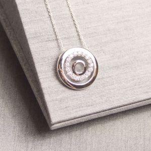 Silver Circle Sparkle Pendant