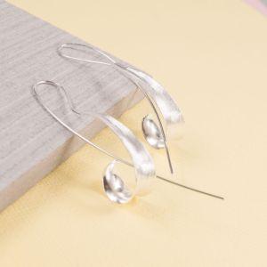 Silver Scroll Longstem Earrings