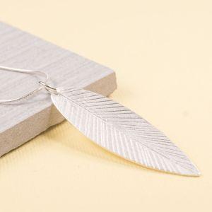 Long Satin Leaf Pendant