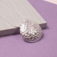 Silver Aero Moon Pendant