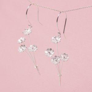Silver Daisy Posy Earrings