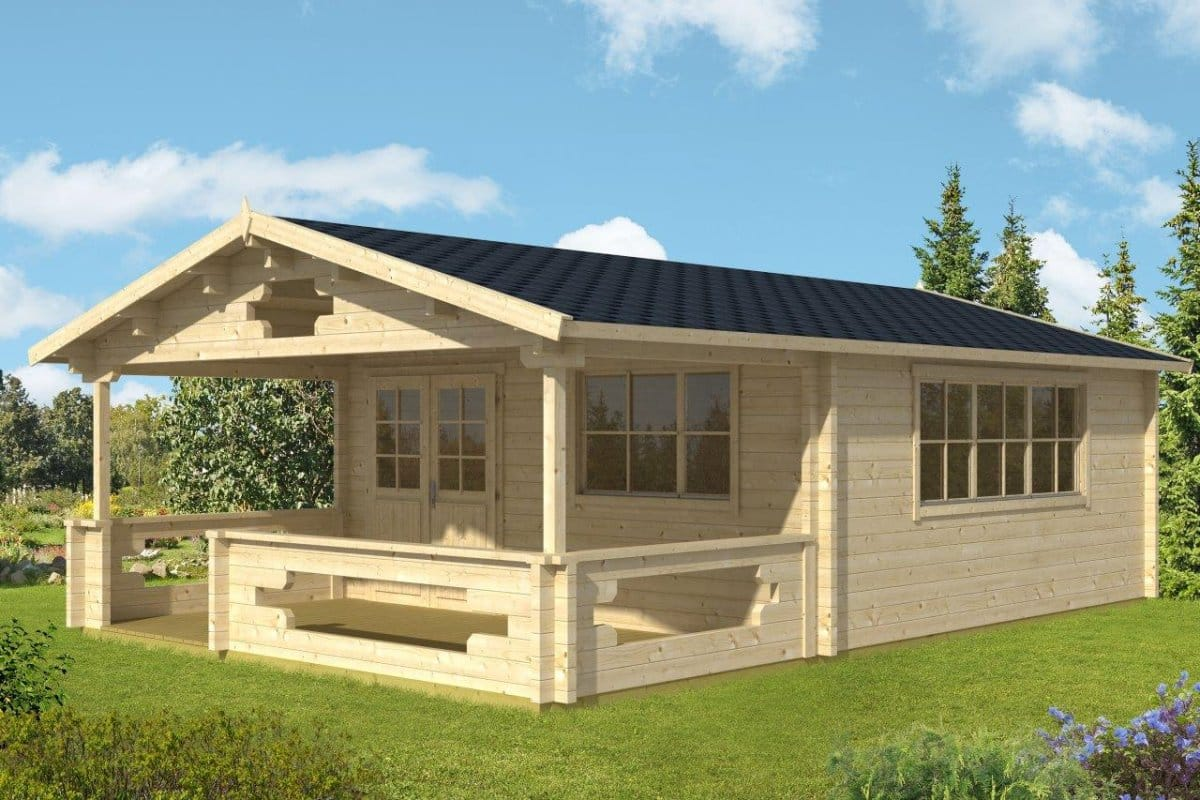 House 24 Summer House With Veranda Armin Xl 25m² 70mm 5 X 8 M