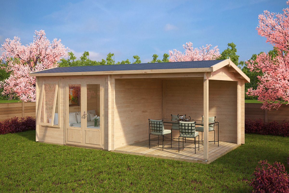 House 24 Summer House With Veranda Nora D 9m² 44mm 3 X 6 M