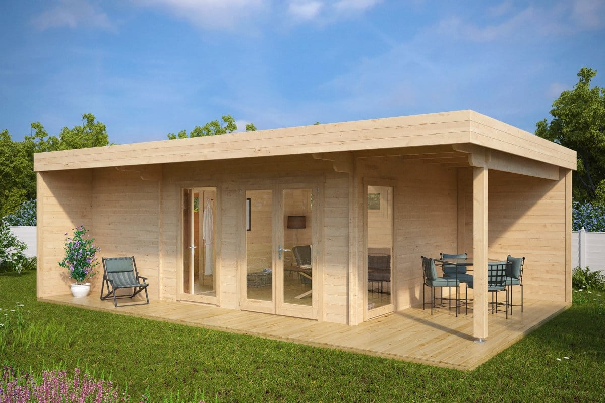 Sauna 24 Summer House With Sauna Hansa Lounge Xxl 22m² 70 Mm 8 X 5 M