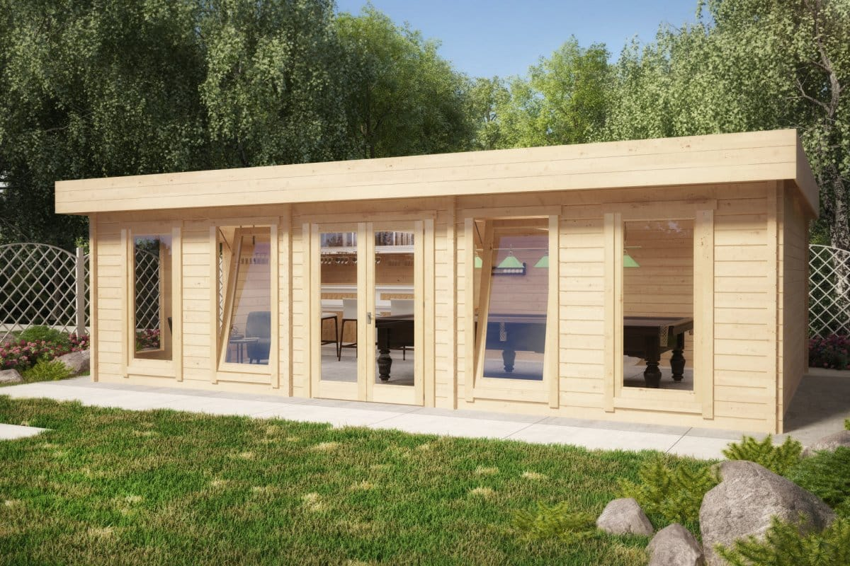 House 24 The Garden Snooker Room 38m2 70mm 8 X 5 M Summer