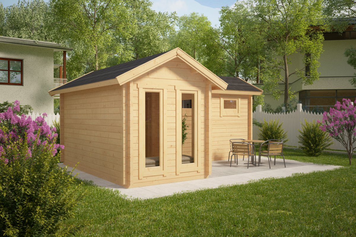 Sauna 24 Timber Sauna Cabin Oliver Iii 16m² 70mm Summer House 24