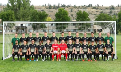 Men's soccer team looking better than ever in this year's team picture. photo courtesy of Dave Shumway