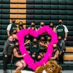 RMC Cheer spreading the love Photo taken by Oliver Walker