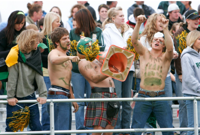 Homecoming 2006: RMC students showing their school spirit as they cheer on the Battlin' Bears.