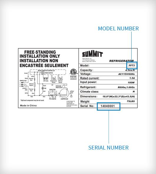 Summit Refrigerator Wiring Diagram Wiring Schematic Diagram