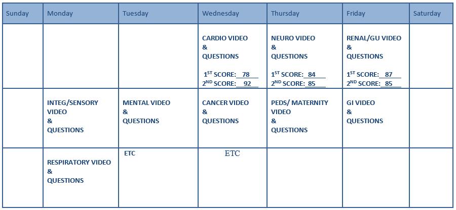 Free Monthly Calendar Or Planner Printable Online Study Calendar 171; Summit College