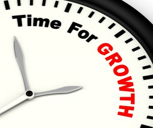 Time For Growth Message Shows Increasing Or Rising