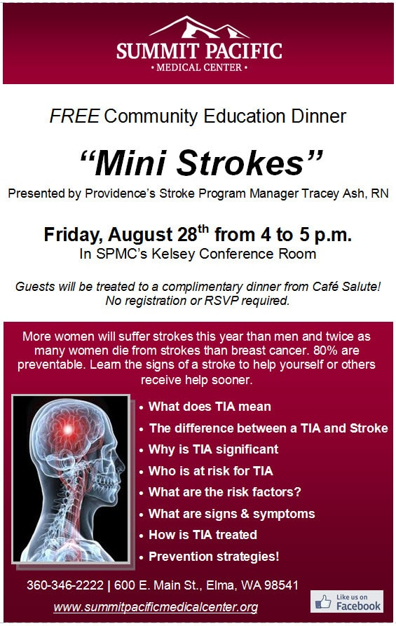 Mini Strokes Single Page Ad \u2013 Summit Pacific Medical Center