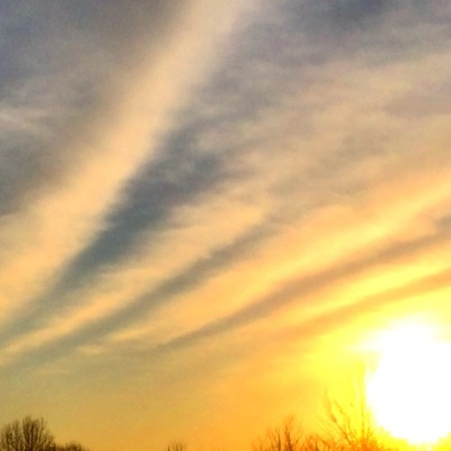 Lovely clouds at sunset over Lexington