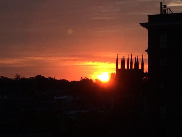Sunrise as seen from downtown Lexington