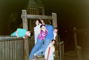 My family enjoying the fun playground in the mid 1990s