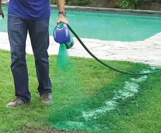 Hydro mousse liquid lawn system used in DIY hydroseeding