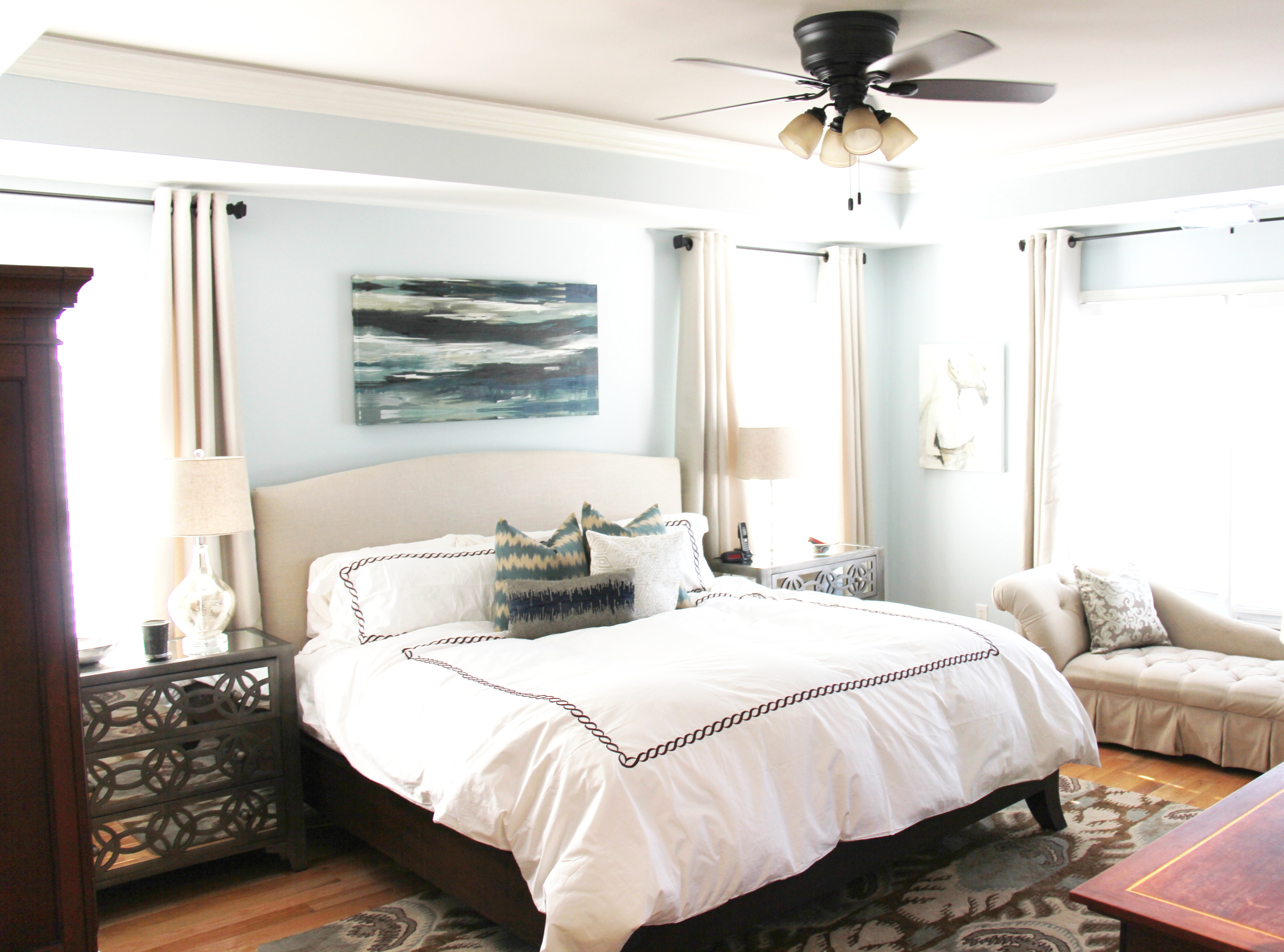Master Bedroom Retreat Master Bedroom Ceiling Fans Simple Ceiling Fan Calm Color Brown