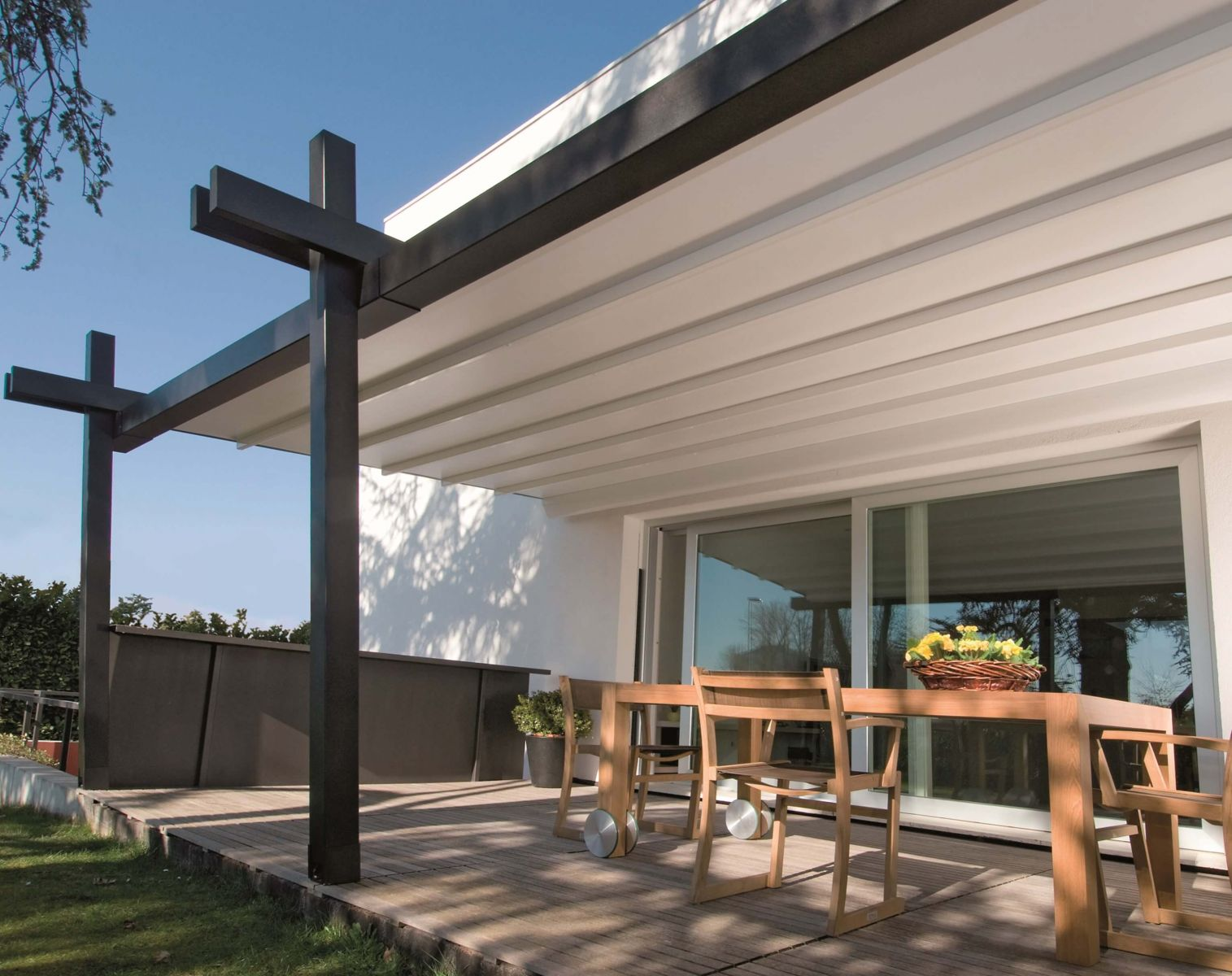 Pergola System The Stil Pergola Awning System Canopies Sunair