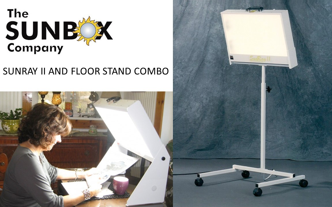 Light Box Seasonal Affective Disorder New Sunray Ii Floor Stand Combo- Bright Light Therapy