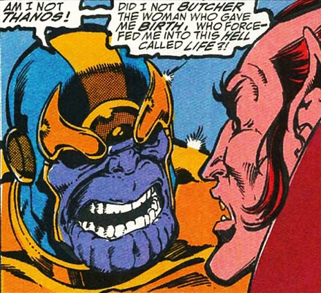 Thanos and Mephisto. Infinity Gauntlet #1, 1991.