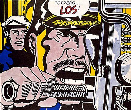 """""""Torpedo...Los!"""" Roy LIchtenstein, 1963."""