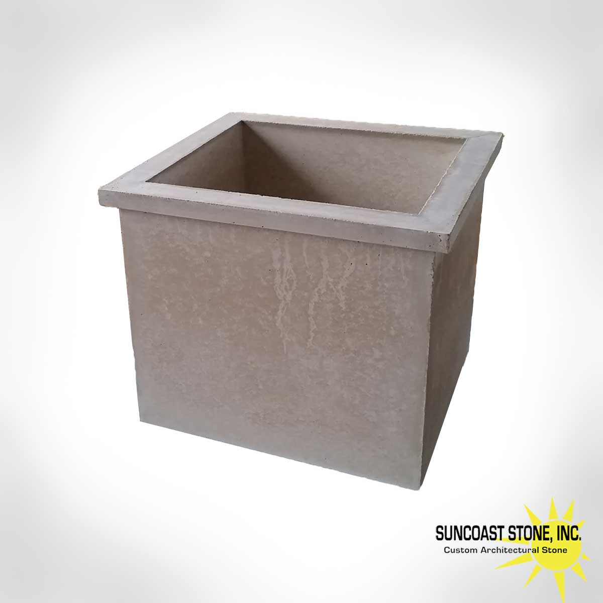 Square Concrete Planter Pot1 Modern Rectangular Concrete Planter With Lip 18x16