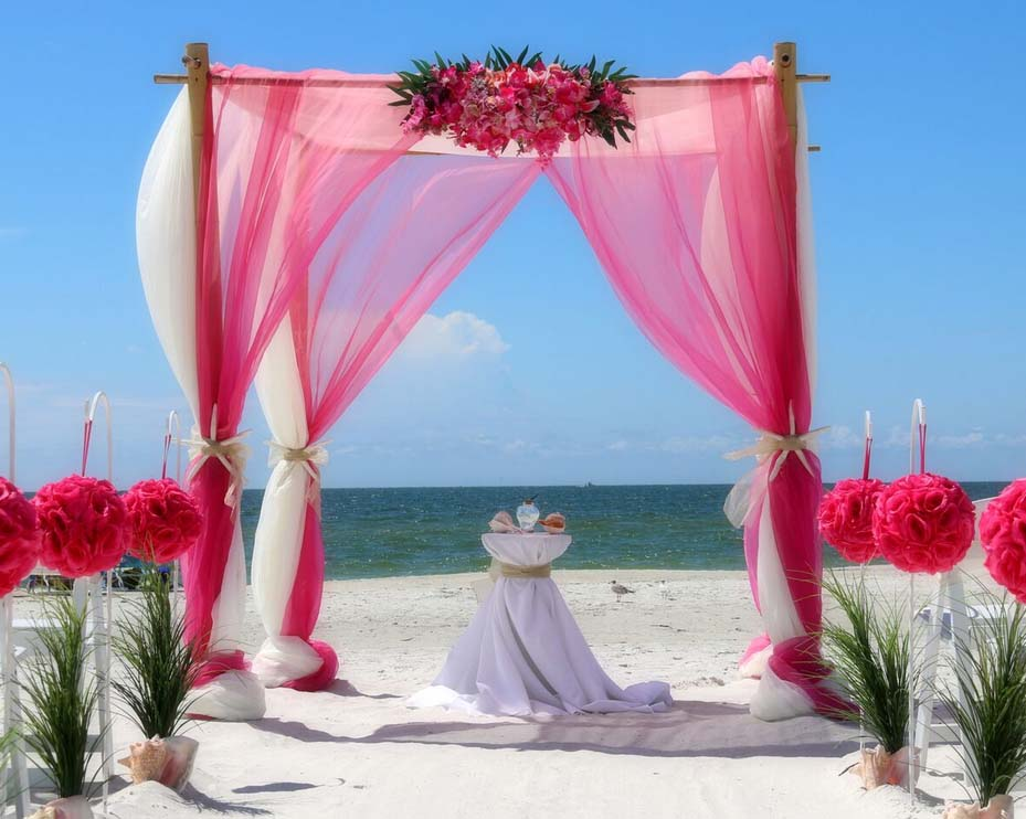 How To Swag A Chandelier Florida Beach Wedding Arches - Suncoast Weddingssuncoast