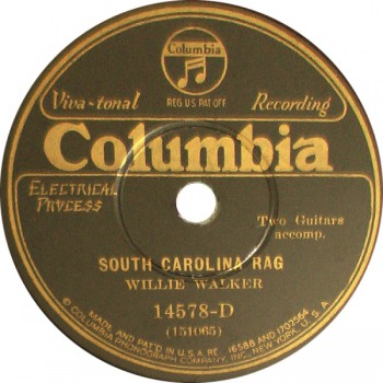 Willie Walker - South Carolina Rag