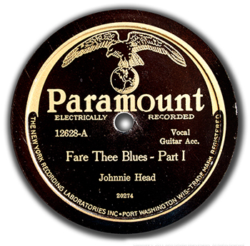 Johnnie Head: Fare Thee Well Blues