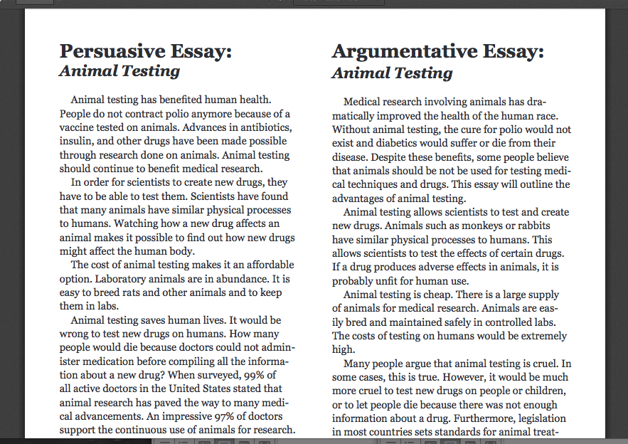 example argumentative essay topics essay - Example Of Argumentative Essays
