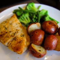Garlic Marinated Chicken with Red Potatoes and Broccoli