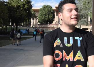 CSUN students shares his upcoming Halloween plans in an interview with the CSUN Sundial.