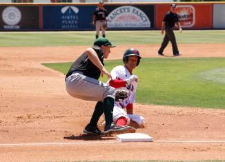 CSUN baseball athlete slides into base