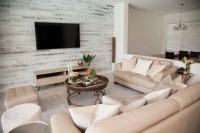 Modern Rustic Chic Living Room - Stikwood Accent Wall ...