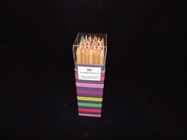Sheffield Home Colored Pencils In Striped Box Sunflower