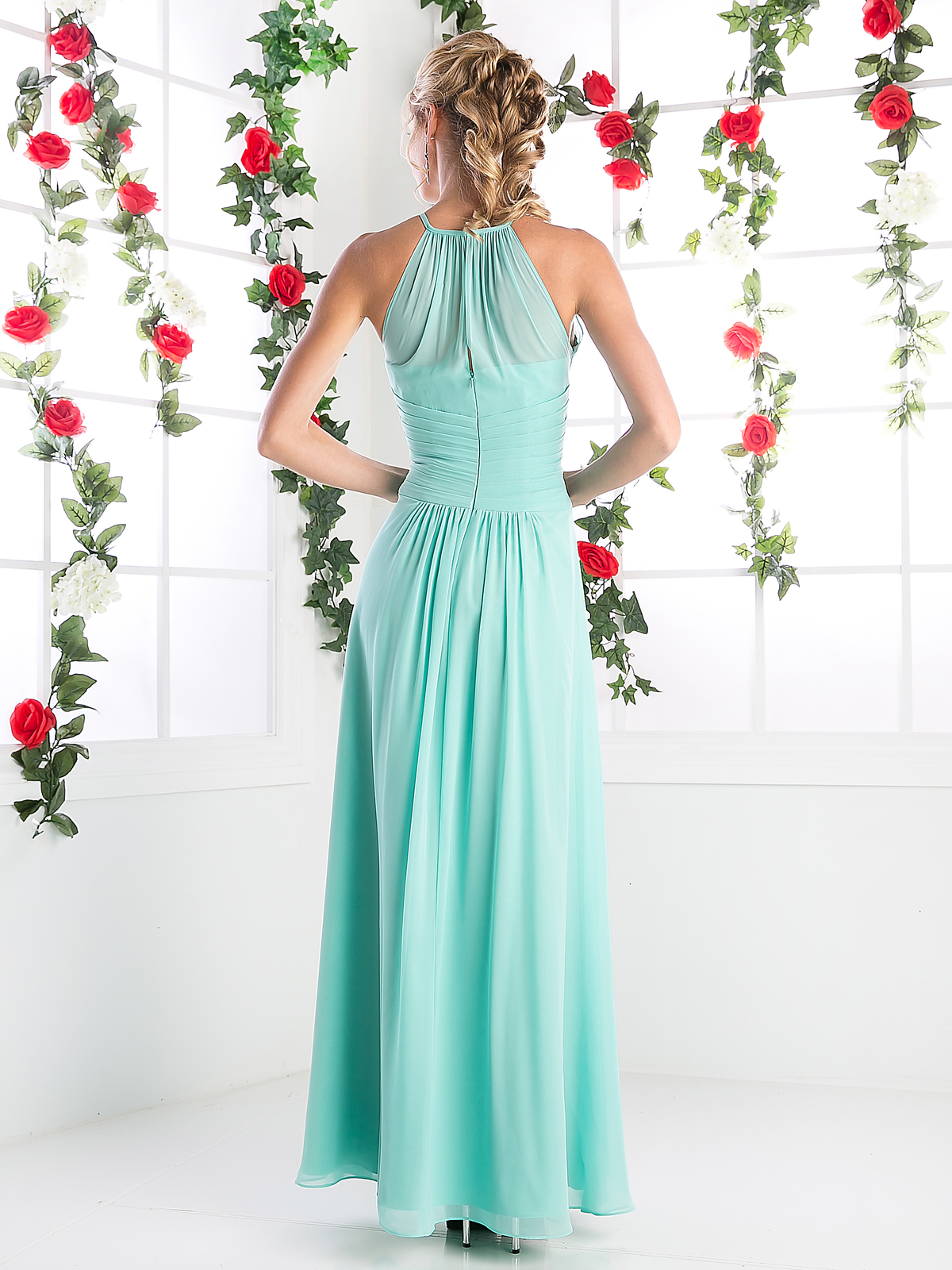 Cd Halter Halter Overlay Bridesmaid Dress Sung Boutique L A