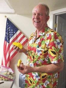 Doug Jones shared samples of the rare fruits he grows.