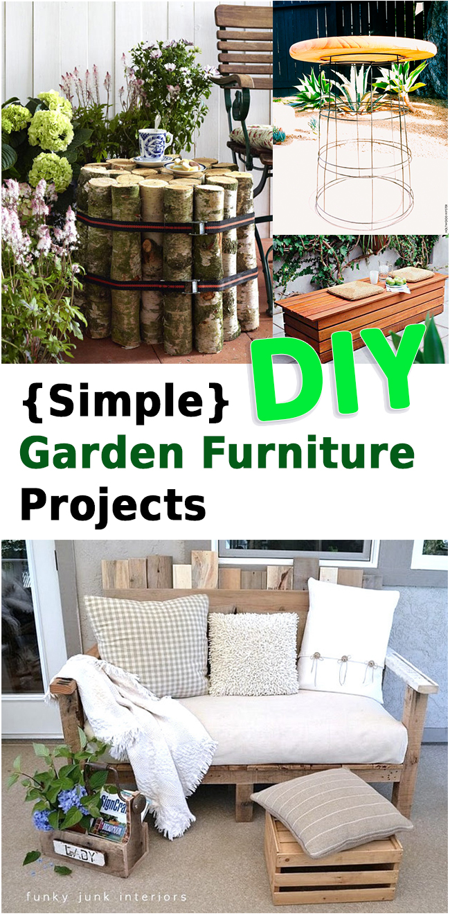Easy Diy Garden Furniture Sunlit Spaces Diy Home Decor Holiday And More
