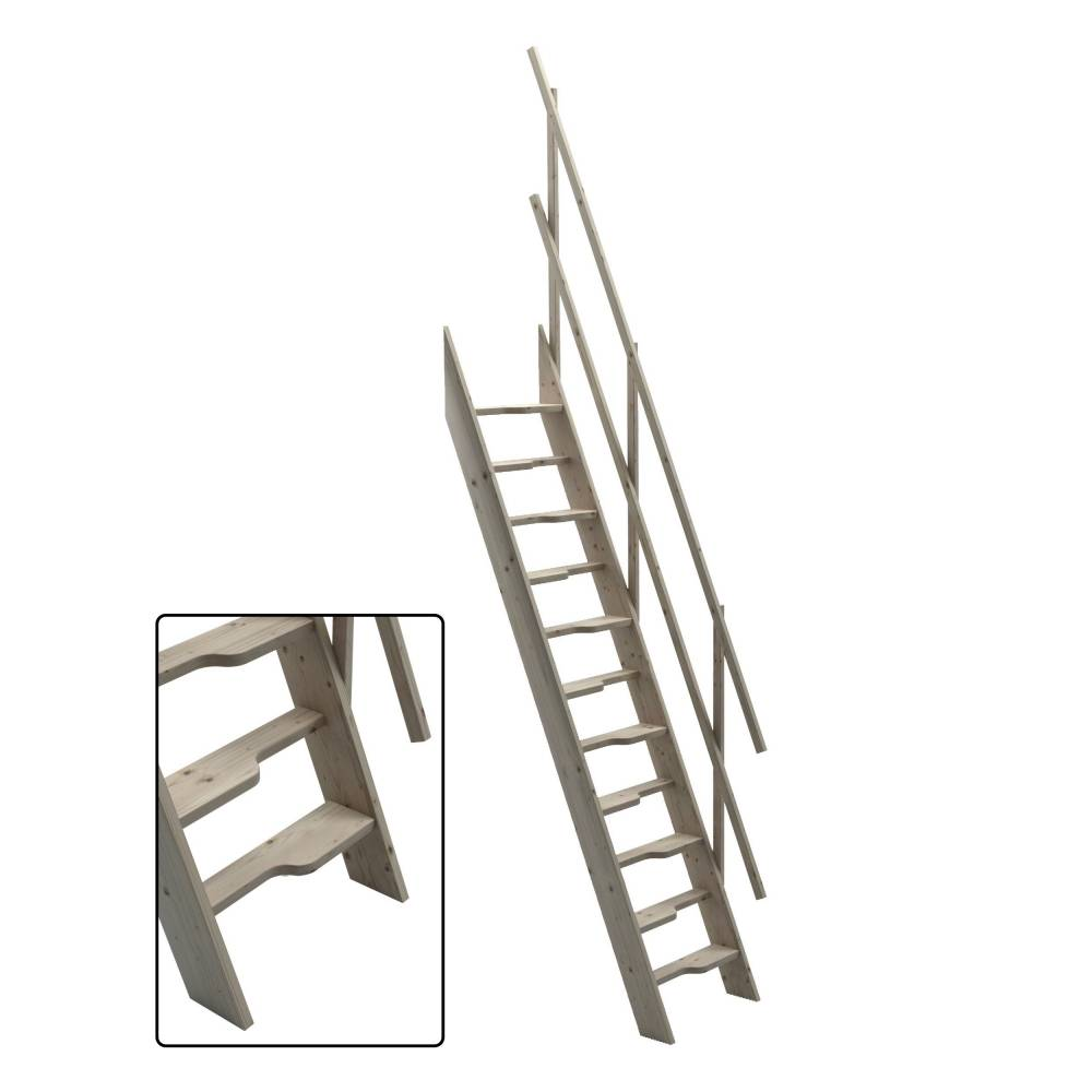 60 Cm Oxford 60 Wooden Staircase Loft Stairs Ladder 60 Cm Width Sunlux