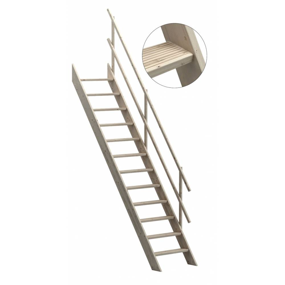 60 Cm Oxford 60 Wooden Staircase Loft Stairs Ladder 60 Cm Width