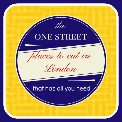 Places to Eat in London- All You Can Eat on One Street!