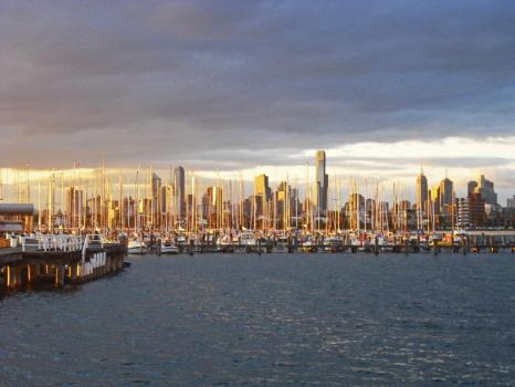 Tipps Melbourne: Skyline vom Brighton Beach