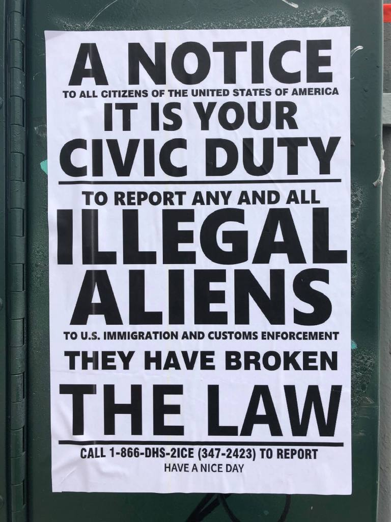 This disgusting sign was posted along Skillman Avenue. Van Bramer took it down and tore it up.