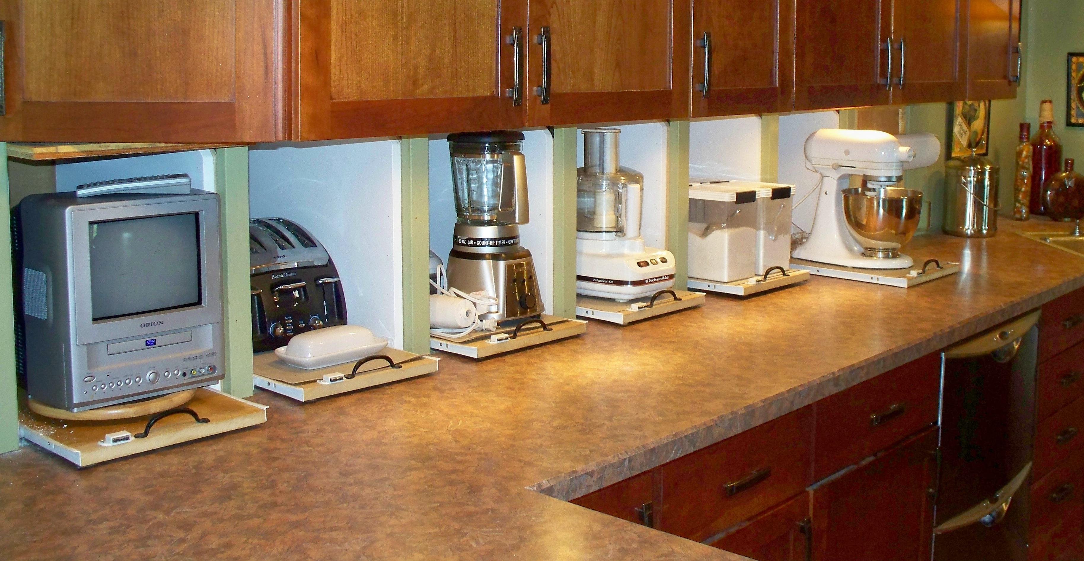 Kitchen Cabinets Appliance Garage Appliance Garages Own Your Piece Of The Sunny Side Of