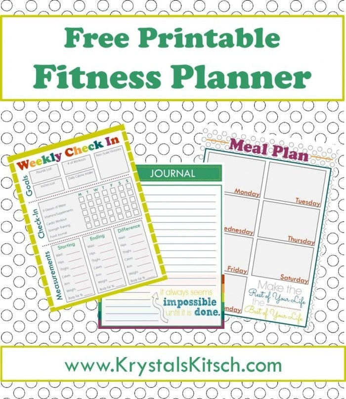 Free Fitness Journal + Meal Planning Printables - Free Fitness Journal Printable