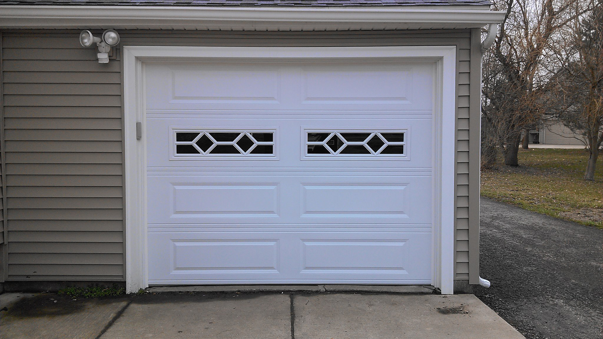 9x7 Garage Door Raised Long Panel Sunrise Door And Woodworks
