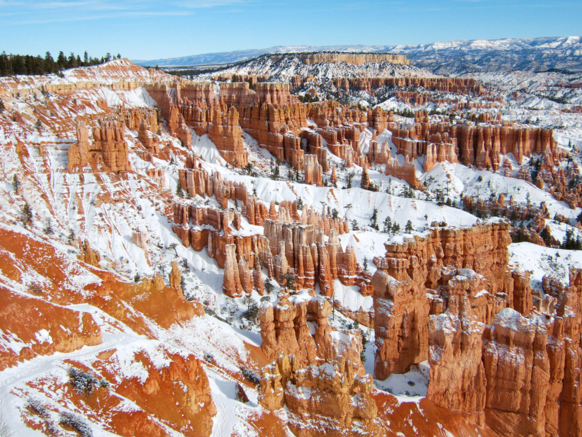 Pool Im Garten Winter Red Rocks And Snow At Bryce Canyon Sunset Magazine